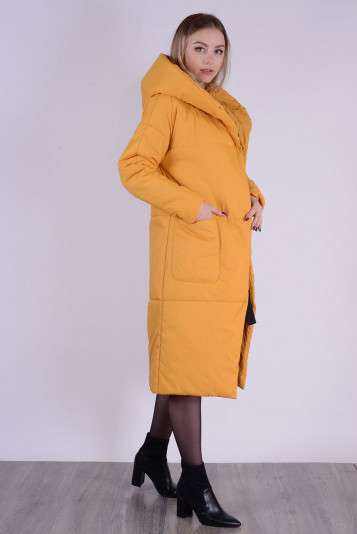 Пальто деми 99602 охра