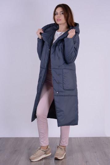 Пальто деми 99602 маренго