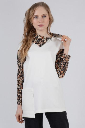 Туника - мини-платье 0105 молочная