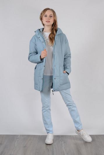 Куртка оверсайз 99604 сизая