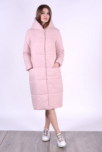 Пальто деми 93552 жемчужное