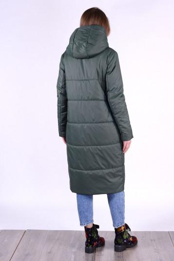 Пальто деми 93552 зеленое