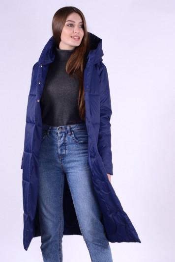 Пальто деми 93552 синее