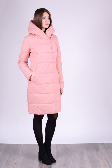Пальто деми 93553 пудра