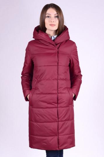 Пальто деми 93553 бордо