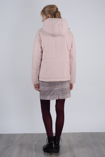 Куртка деми 93565 жемчужная