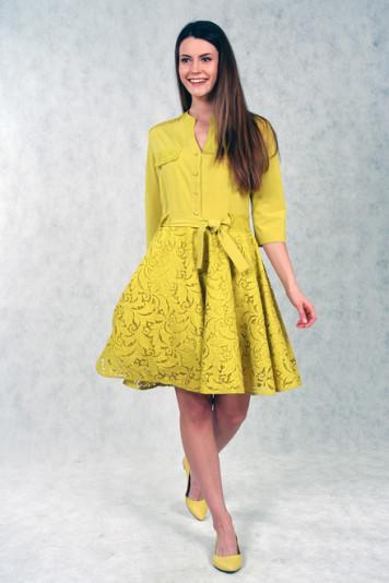 Платье 7115.2 желтый