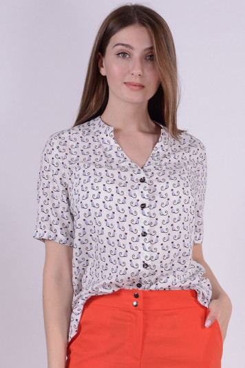 Блуза 7126 принт котики