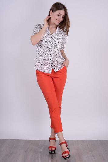 Блуза 7126 + брюки 8212 коралл