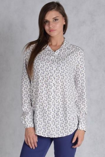Блуза 7135 принт коты