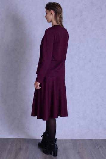 Джемпер 7137 + юбка 7102.2 бордо