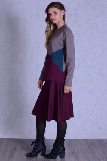 Джемпер 7138 + юбка 7102.2 бордо