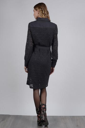 Платье-рубашка 8109 графит