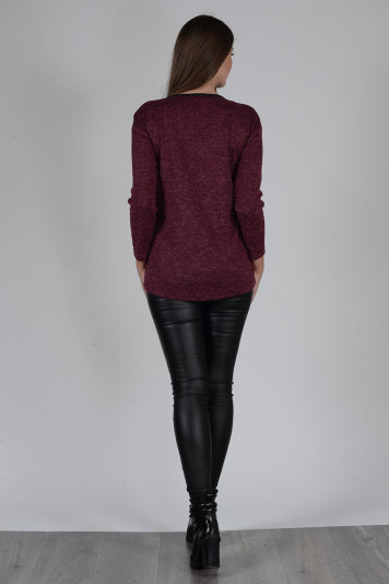 Джемпер 8303 + брюки 8202 бордо