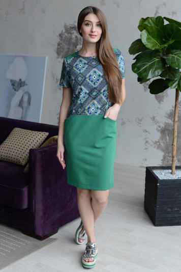 Платье 8111 зеленое