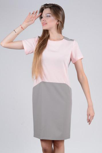 Платье 8111 серое