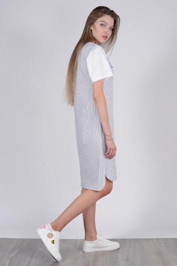Платье 8112 полоска