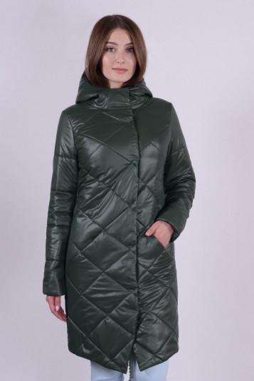 Пальто деми 93562 зеленое