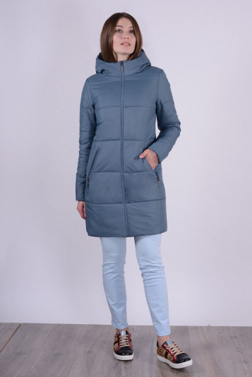 Пальто деми 93563 маренго