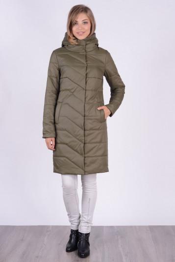Пальто деми 93583 защитного