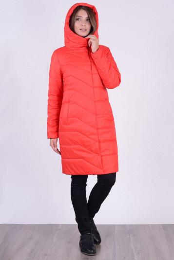 Пальто деми 93583 красного