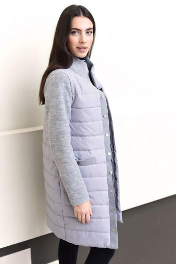 Пальто женское деми 93550 серое