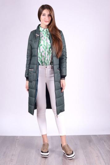 Пальто женское 93556 зеленый