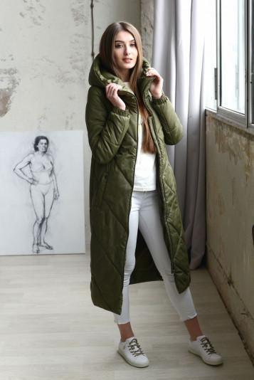 Деми пальто 93557 защитный