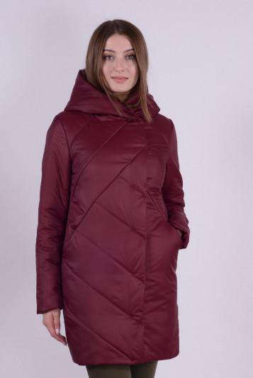 Пальто 93564 бордо