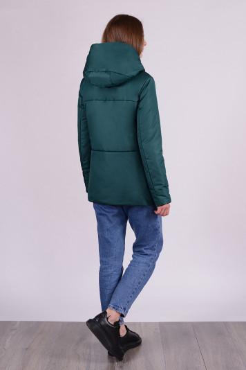 Куртка деми 99625 зеленая
