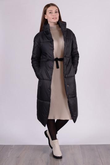 Пальто демисезонное 99609 черное