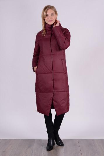 Пальто демисезонное 99609 бордо