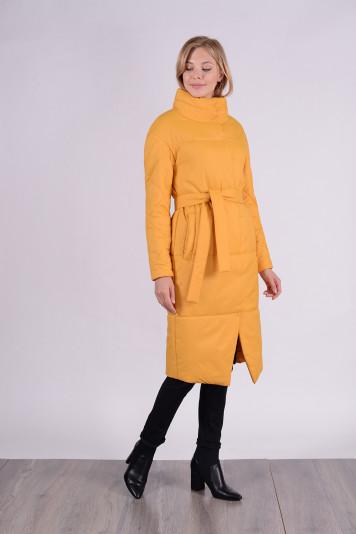 Пальто демисезонное 99609 охра