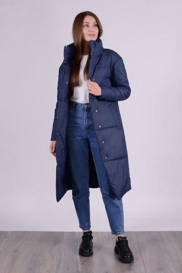 Пальто демисезонное 99609 синее