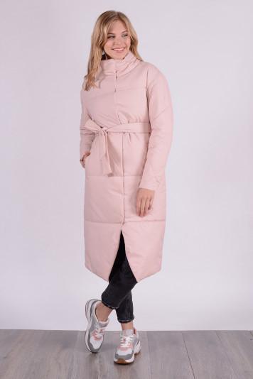 Пальто демисезонное 99609 жемчужное