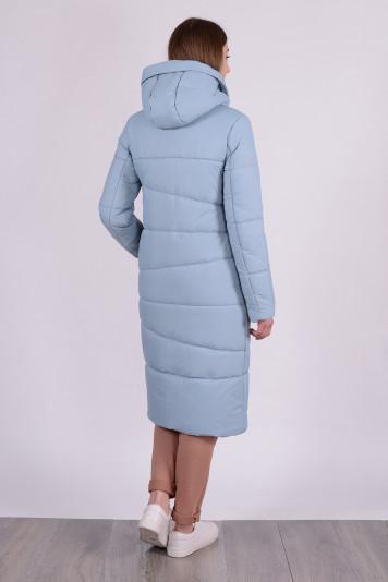 Пальто зимнее 99633 сизый