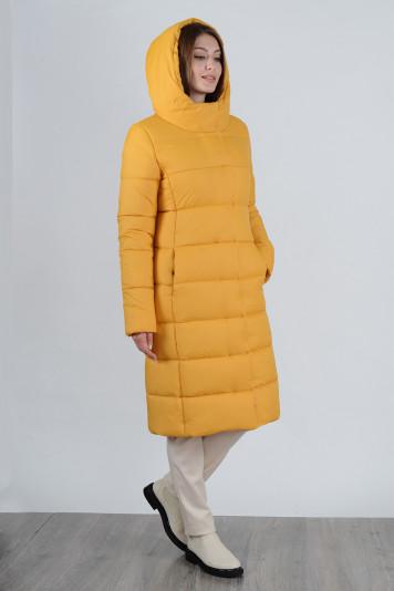 Пальто зимнее 99637 охра