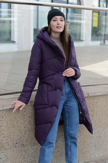 Пальто зимнее 99639 черника