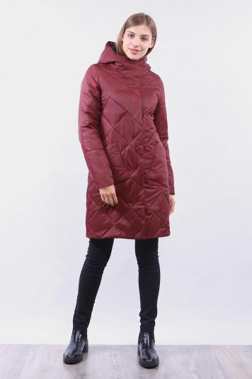 Пальто женское 99646 бордо