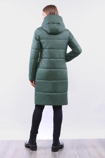 Пальто деми 99645 зеленое
