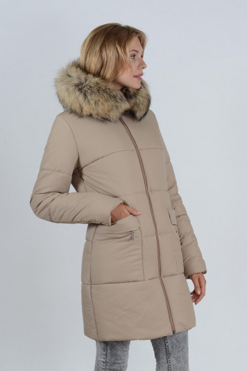 Зимнее пальто 90638 беж