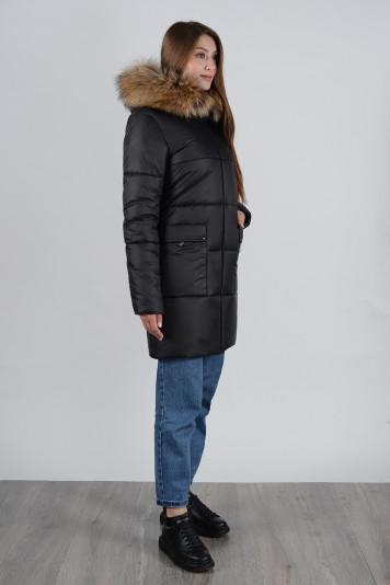 Зимнее пальто 90638 черное