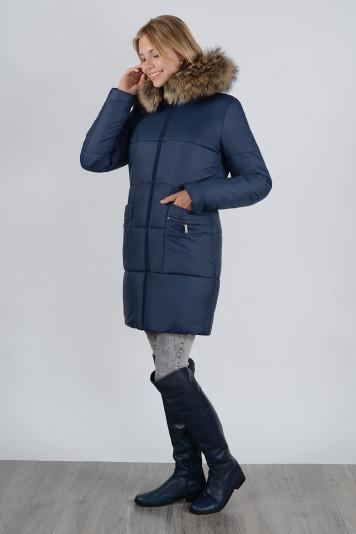 Зимнее пальто 90638 синее