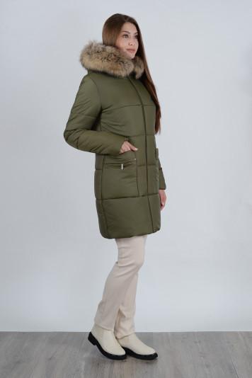Зимнее пальто 90638 защитное