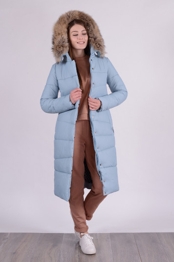 Зимнее пальто 90633 сизое