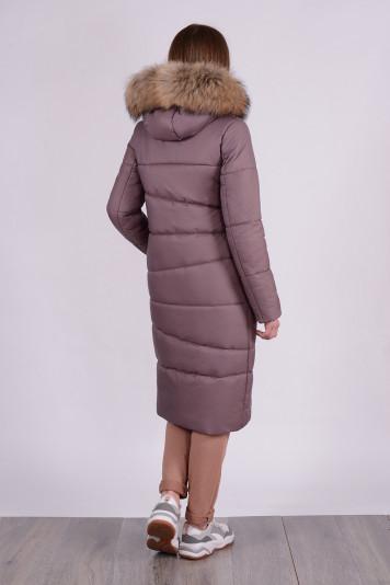 Зимнее пальто 90633 кофе