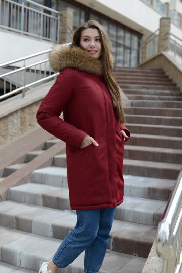 Зимняя парка 10683 бордо