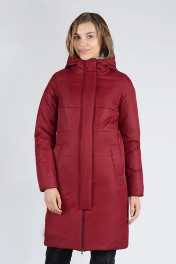 Пальто деми 13659 бордо