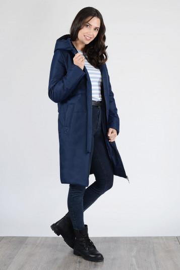 Пальто деми 13659 синее