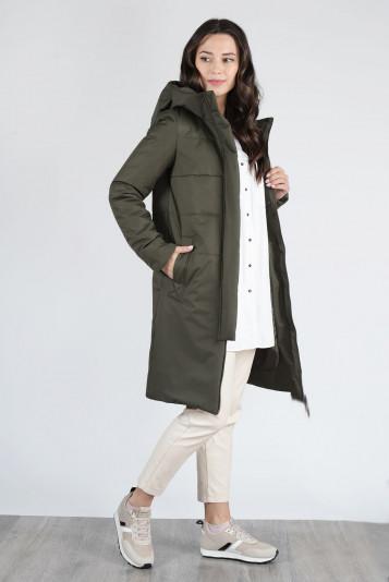 Пальто деми 13659 защитное